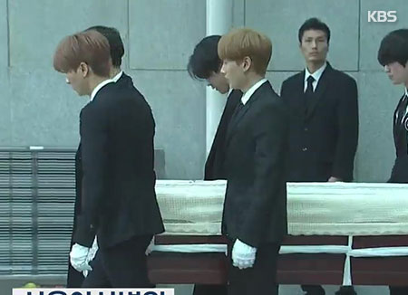 Funeral held for late Kpop star Kim Jong Hyun