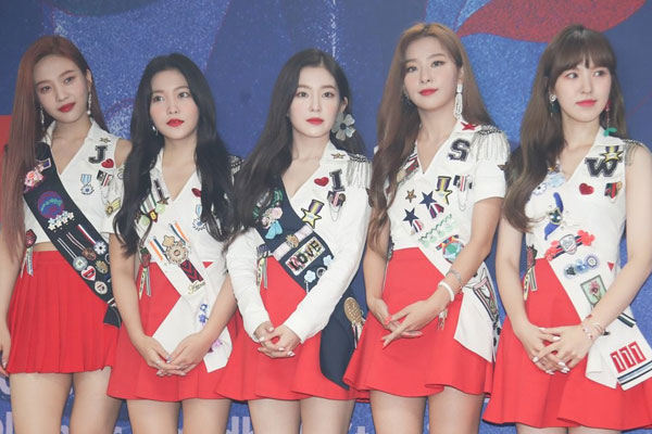 Red Velvet tops local music charts